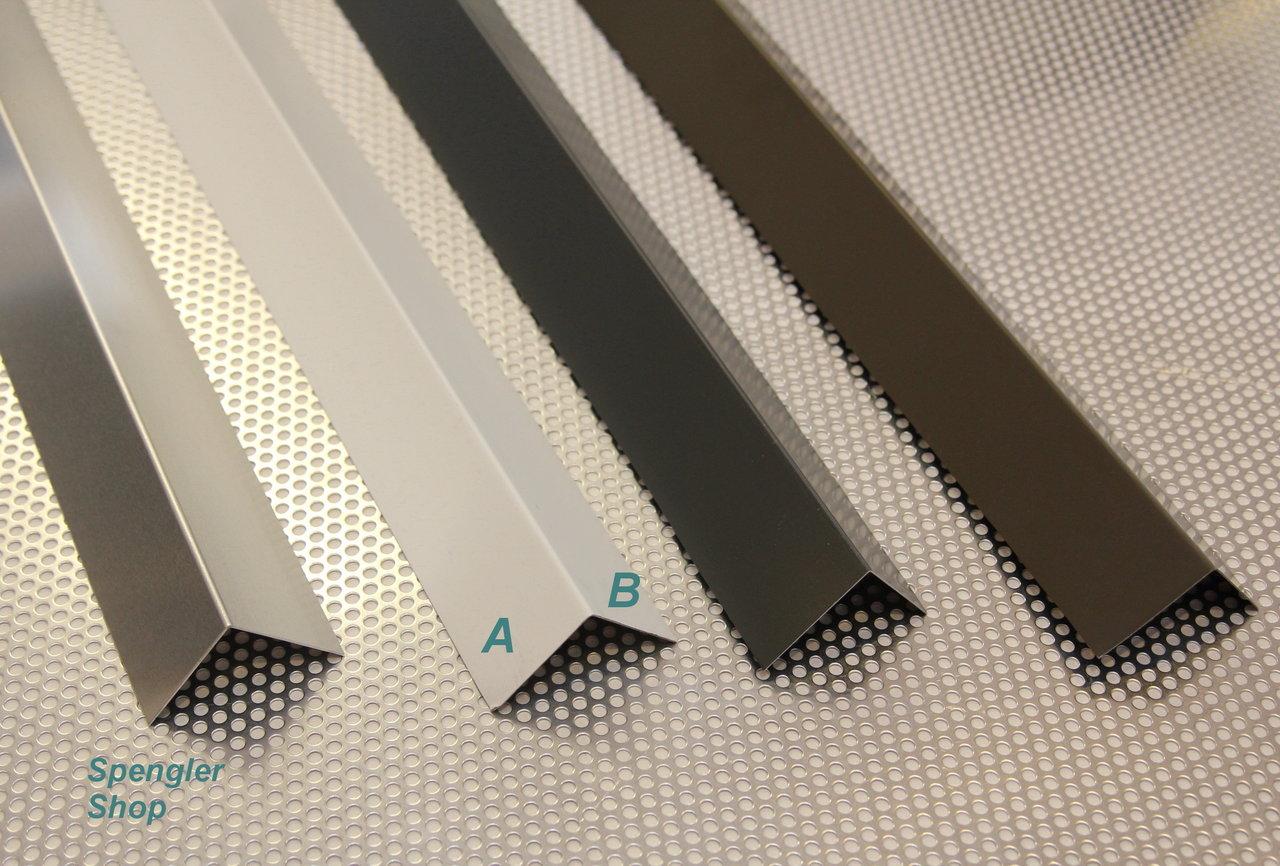 winkelblech blechwinkel alu farbig 2 00 m der spengler. Black Bedroom Furniture Sets. Home Design Ideas