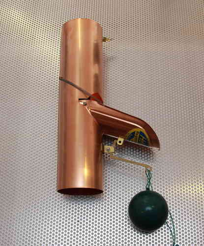 Fallrohr Laubsammler selbstschließende regenklappe aus kupfer der spengler shop de