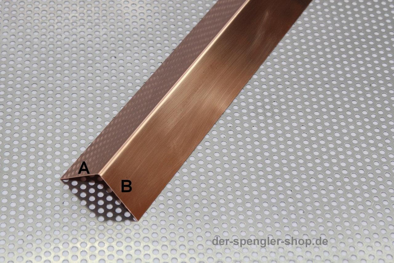 1,00 m Windfangbrett-Verkleidung U-Form verzinkter Stahl farbig.