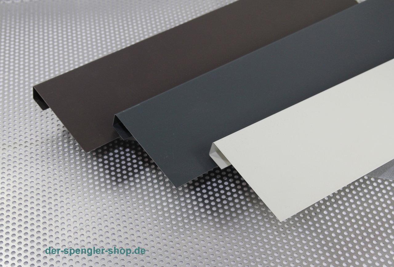 1 00 m windfang u form stahl farbig der spengler. Black Bedroom Furniture Sets. Home Design Ideas