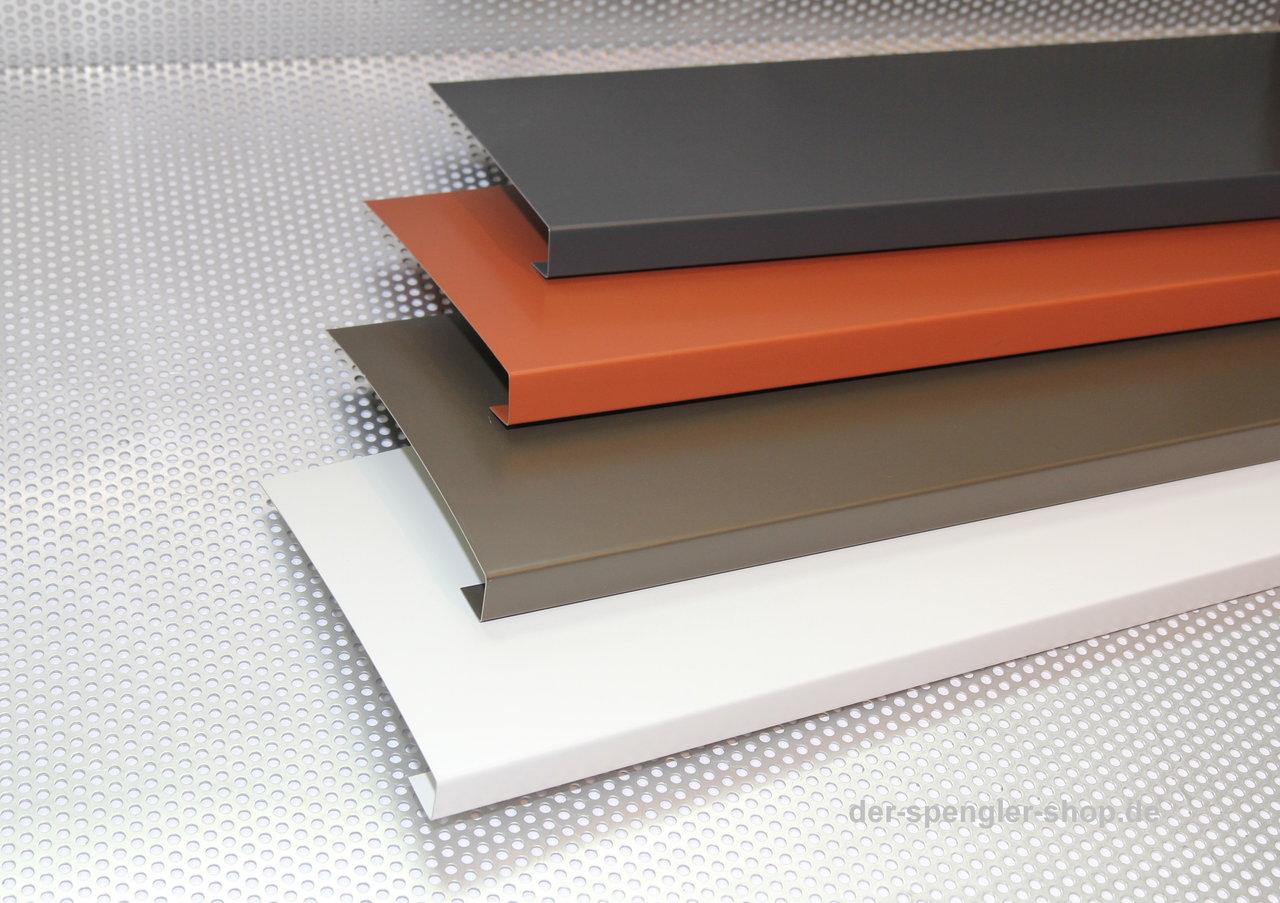 2 m alu windfangbrett verkleidung u form der spengler. Black Bedroom Furniture Sets. Home Design Ideas