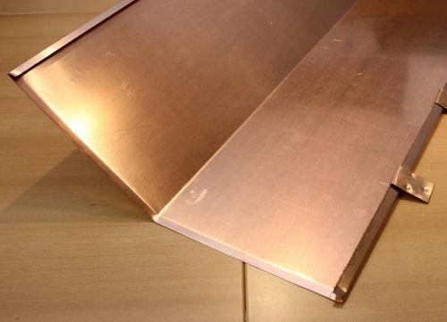2,00 m Kehlblech Kehlseier aus Kupfer 0,60 mm