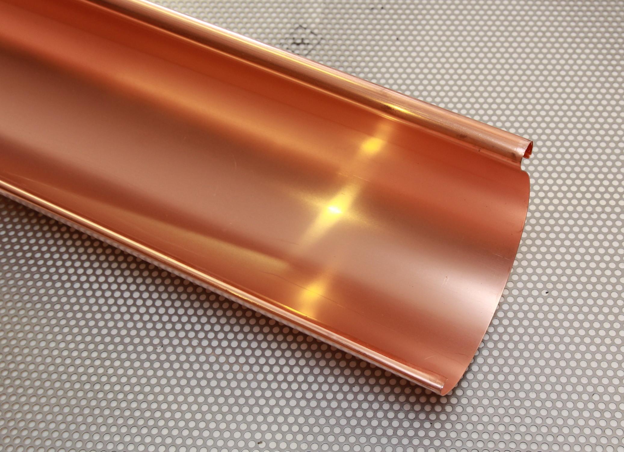3,00 m lang aus Kupfer 0,60 mm Regenrohr Fallrohr Ablaufrohr